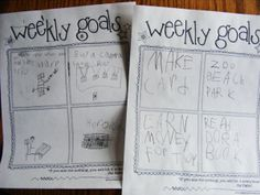 weekly goals for kids