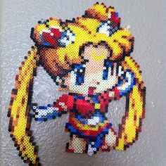 Sailor Moon perler bead creation by madelinelouisee