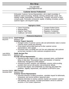 This resume tempalte is for a professional with over 10 years of experience in customer service and support.Resume Template Text Enthusiastic Customer Service Representative with in-depth… Customer Service Resume Examples, Free Resume Examples, Best Resume, Resume Tips, Resume No Experience, Resume Profile, Administrative Assistant Resume, Manager Resume, Job Resume
