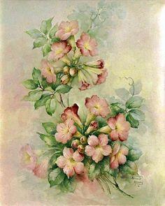 Vintage Floral ~ Violeta lilás Vintage