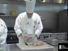 Chef Instructor Matthew Mejia breaking down a chicken. This demo comes from a CA1030 meat and poultry fabrication class.