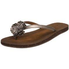 Clarks Women's Salon Joy Sandal,Pewter,7 M US (Apparel)