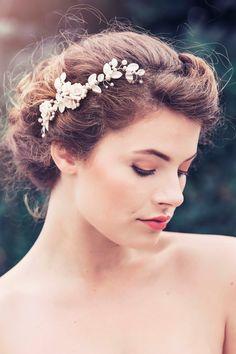 Romantic Decorative Wedding Hair Comb Wedding by gadegaarddesign