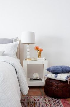 """Need this Art Deco lamp from the new Cupcakes and Cashmere home collection at Nordstrom! A lovely natural shade tops a playful stacked ball table lamp with a slender goldtone pole. 28"""" height; 14"""" shade diameter.Click to zoom"""