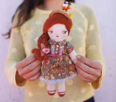 Hey, I found this really awesome Etsy listing at https://www.etsy.com/listing/227684361/redhead-teenager-rag-doll-with-canotier