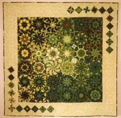 Hi everyone, this was made using the octogan technique in the book 'One Block Wonders' by Maxine Rosenthal. I've made a lot of quilts using her Quilting Projects, Quilting Designs, Quilting Ideas, Sewing Projects, Hexagon Pattern, Hexagon Quilt, Panel Quilts, Quilt Blocks, One Block Wonder
