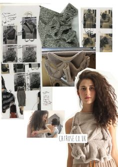 Fashion Knitwear Sketchbook - textiles design development and the final piece; the fashion design process // Cat Rose