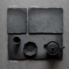 Tanka Plate by Shinji Hidaka. Clay Plates, Clay Tiles, Ceramic Tableware, Kitchenware, Vintage Ceramic, Ceramic Art, Concrete Crafts, Pottery Designs, How To Make Tea