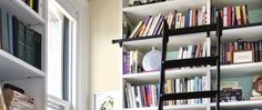 Rout oak boards and install specialty hardware to create an elegant addition to any built-in bookcase