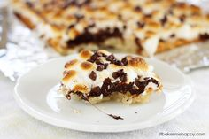 S'mores Macaroon Bars. Recipe calls for 2 tbsp of flour which can easily be replaced with g.f.