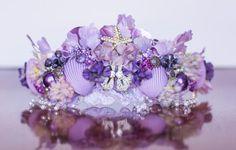 Mermaid Crown Purple Wire Crown Mermaid by LittleLadyAccessory