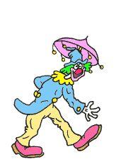 Image gif clown qui rigole