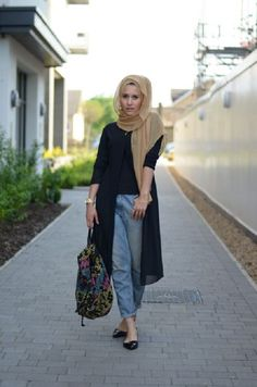 Latest Casual Hijab Styles & Designs with Jeans Trends- Perfect Looks 2016-2017