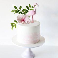 Buttercream Cake, Fondant Cakes, Cupcake Cakes, 13 Birthday Cake, Luau Birthday, Flamingo Cupcakes, Ballerina Cakes, Flamingo Birthday, Girl Cakes