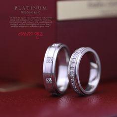 엔조 2PR227/228 백금 결혼반지커플링 - Enzo Princess collection wedding ring 2PR227/228