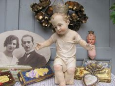 French shabby chic Crown Madonna Krone Enfant Couronne Santos Heiligenfigur JDL