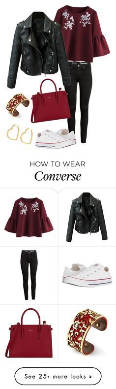 """Casual rock"" by itsann02 on Polyvore featuring Converse, Furla, Henri Bendel and Belk Silverworks"