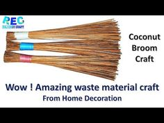 Best out of waste Broom craft idea | diy art and craft | Artkala 413 - YouTube