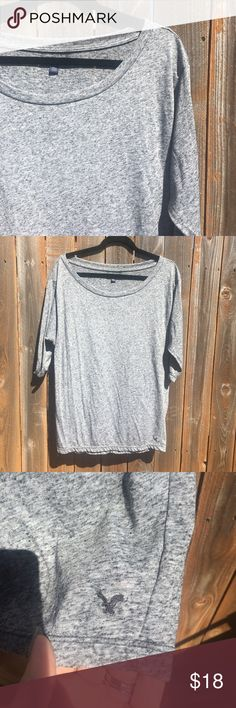 • [american eagle] grey dolman • Dark grey speckled dolman top from American Eagle. Size large.   ❌NO TRADES ❌NO OFF APP PAYMENT 🚭SMOKE FREE HOME 🐶🐶 TWO PUPS American Eagle Outfitters Tops