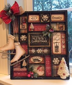 Scrapbook, Card Making & Rubberstamp Classes at The Inspiration Station, Stafford Springs, CT 06076 Christmas Signs, Rustic Christmas, All Things Christmas, Vintage Christmas, Christmas Holidays, Christmas Decorations, Christmas Ornaments, Christmas Projects, Holiday Crafts