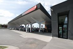 Project - Service Station Saint Ghislain - Signage Branding