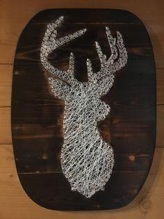 Wanddeko - Fadenbild Kreuz  - ein Designerstück von Filzkult bei DaWanda