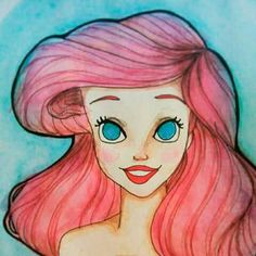 Desenho Ariel aquarela