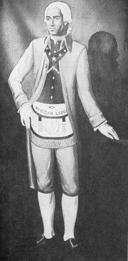 Prince Hall had an English father and a free Black mother and was also the First black mason. Lodges are still named after him in many black neighborhoods