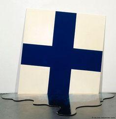 Harro Koskinen. Finland Melting, 1969. alkydimaali lastulevylle