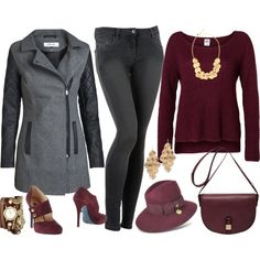 A fashion look from November 2014 featuring Lipsy sweaters, ONLY coats and Patrizia Pepe jeans. Browse and shop related looks.