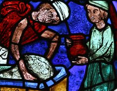 Vitrail des Apôtres : Les donateurs