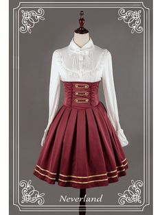 Lace Up High Waisted Lolita Skirt - Nancy Clara Academy by Souffle Song Anime Outfits, Cosplay Outfits, Dress Outfits, Fashion Dresses, Cute Outfits, Lolita Fashion, Gothic Fashion, Vintage Fashion, Mode Lolita