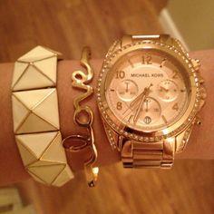 Yellow wristwatch