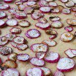 Roasted Salt & Pepper Radish Chips