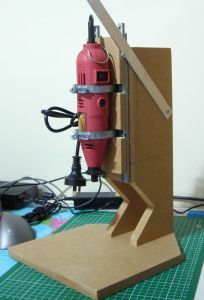 Simple rotary tool drill press.