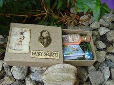 Miniature Fairy Dust Book Match Box Gift Set by ForestDwellersNZ