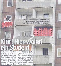 Eine Sterni-Schutzmauer eigens erbaut von einem eifrigen Studenten, der offensichtlich gerne Sternburg trinkt!