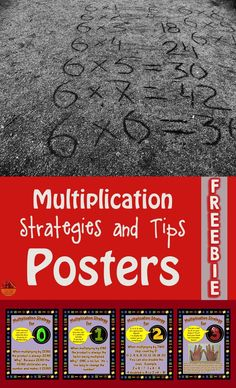 Students need strategies and tips to learn most of the multiplication tables.  These colorful posters remind students of some of those strategies.  Hang them in your room or make student sized versions to be used as a resource.  Come check them out!