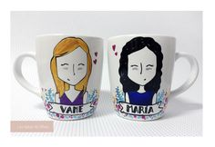 Taza de desayuno personalizada, pintada a mano | Mug lovers | Custom | Made to Order | Personalized Mug | Mug lovers | Taza personalizada pintada a mano | #Tazas #love #amor #regalos #mug #lastazasdesilvia #tazas #tazaspersonalizadas #mug #café #coffee #desayuno #ceramic #paint #coffeelover #cup #illustration #travel #live #regalospersonalizados #lovely