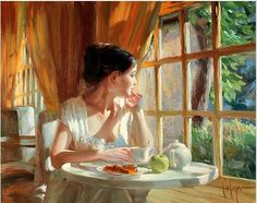 One of many beautiful paintings by Vladimir Volegov. So wistful, so peaceful.