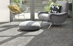 trendy living room ideas neutral gray colors carpet floor cushion armchair