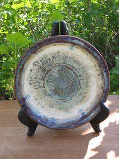 Pottery Plate Handmade Stoneware Plate by MalloryvillePottery, $25.00