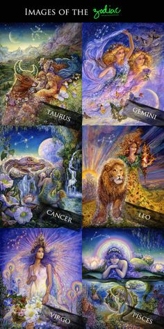 Josephine Wall Zodiac | September and Sun: {Inspiring Images} Art by Josephine Wall