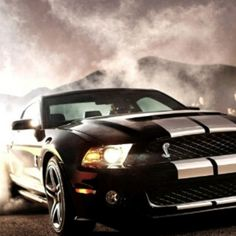 Super Cool Mustang in black with dual stripes! nice...