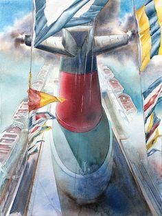 Le France au Musée de la Marine - avec les oeuvres de l'artiste... #Art #Artiste