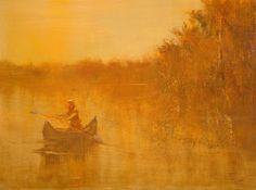 "Saatchi Art Artist Maurice Sapiro; Painting, ""Canoe"" #art"