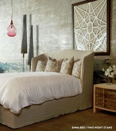 Emma bed from Cisco Brothers, see it in person in our Newport Beach store