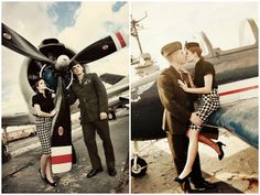 Vintage military photo shoot.