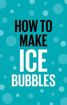 Have you ever seen ice bubbles? When it's cold enough, normal bubble solution will create floating spheres of ice. So cool.