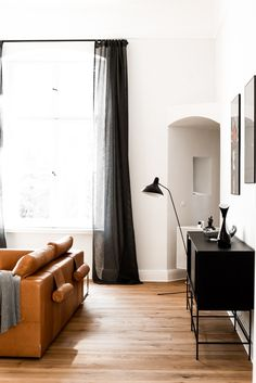 A palace (and one-time hospital) enters the 21st century as a streamlined apartment furnished with a fresh mix of Bauhaus, Scandi, and bespoke designs. Surprise element: The remodel is the work of a Polish designer and most of the elements were fabricated or restored across the border in Szczecin, Poland.